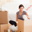 Stock Photo: Gorgeous wompacking her property
