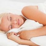 Cute woman sleeping — Stock Photo