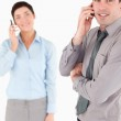 Portrait of a business making a phone call — Stock Photo #11187627