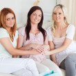 Stock Photo: Cute Best Friends having a baby-party
