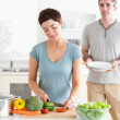 Couple preparing lunch — Stock Photo #11189323