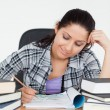 Beautiful young student learning — Stock Photo