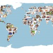Illustrated world map made of pictures — Stock Photo #11189946