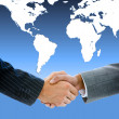 Close-up of a business shaking hands — Stock Photo