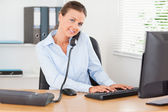 Busy office worker — Stock Photo