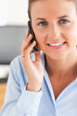 Portrait of a businesswoman making a phone call — Stock Photo