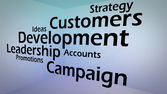 Creative image of business development concept — Photo