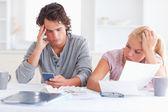Couple going through their expenses — Stock Photo