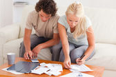 Couple working together — Stock Photo