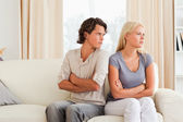 Man angry at her wife — Stock Photo