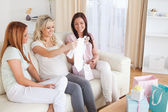 Young Women having a baby Shower — Stock Photo