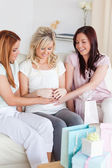 Charming Women having a baby-party — Stock Photo
