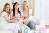 Charming Best Friends having a baby-party — Stock Photo