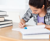 A young student learning — Stock Photo