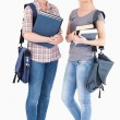 Portrait of College students holding books — Stock Photo