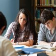 Students preparing the examinations — Stock Photo