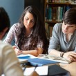 Portrait of students reviewing for the examinations — Stock Photo
