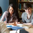Students getting set for an assignment — Stockfoto #11190960