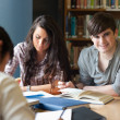 Portrait of students preparing an assignment — Stockfoto