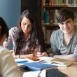 Portrait of students preparing an assignment — Stock Photo