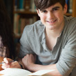 Portrait of a smiling student — Stock Photo