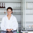 Stock Photo: Smiling scientist posing