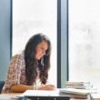 Portrait of a serious student writing — Stock Photo #11191235