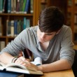 Stock Photo: Focused male student working
