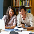 Good looking students working together — Stock Photo #11191643
