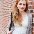 Portrait of a lovely student standing up — Stock Photo #11192461