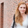 Stock Photo: Lovely student standing up