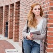 Portrait of a student with a tablet computer — Stock Photo #11192489