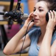 Portrait of radio host speaking — Stock Photo #11192600