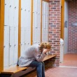 Portrait of a lonely student — Stock Photo