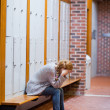 Stock Photo: Portrait of lonely student