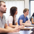Studious young adults listening lecturer — Stock Photo #11192929