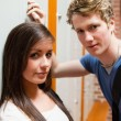 Stock fotografie: Close up of couple flirting