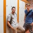 Handsome students standing up — Stock Photo