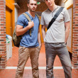 Portrait of handsome students posing — Stock fotografie