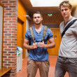 Handsome students posing — Stock fotografie