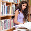 Female student with a book — Stock Photo