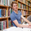 Male student with books — Stock Photo