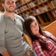Young students posing — Stock Photo