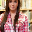 Portrait of a female student posing — Stock Photo