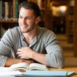 Smiling male student working — Stock Photo #11193548