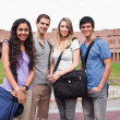 Stock Photo: Fellow students posing