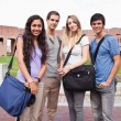 Stock Photo: Portrait of fellow students posing