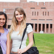 Stock Photo: Smiling female students posing