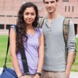 Portrait of a student couple posing — 图库照片 #11193794