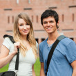 Young student couple posing - Stockfoto